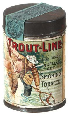 Trout Line 'sample' tin, a rarity.