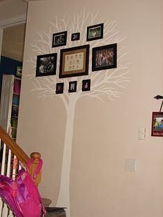 A girl and a glue gun: My family Tree wall display-LOVE IT!!!!!!!!!!!