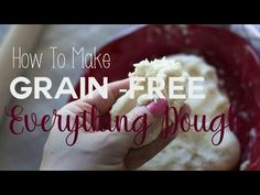 """Finally, a """"Grain-Free Everything Dough"""" that is gluten free, dairy free and multi-purpose! Perfect for making pizza, cinnamon rolls, pita bread, empanadas, breadsticks and more."""