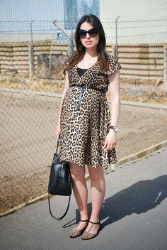 Animal Print Dress. Pregnant Style.