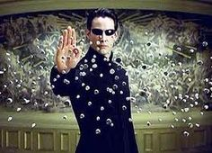 Matrix--Great movie!  Favorite quote to   annoy people:  What if we were nothing more than television for  an advanced civilization?