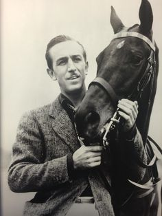 Polo enthusiast Walt Disney and his horse 1936