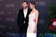 Stunning as always. ❤️❤️❤️ Dakota Johnson & Jamie Dornan at Premiere in Paris, France (Feb. 6th). Cr. @DakotaJLife