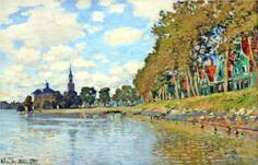 Zaandam - Claude Monet. The Landscape Near Zadaam is in Metropolitan Museum of Art, United States. (Zandaam is a town in the Netherlands).