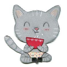 chat gris, Cécile Hudrisier