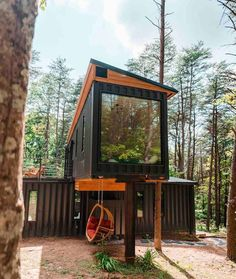 Shipping Container Cabin, Shipping Container Home Designs, Container House Design, Container Houses, Shipping Containers, Storage Container Homes, Container Store, Container Home Plans, Sea Container Homes