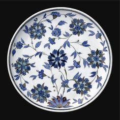 A Fine and Rare Iznik 'Damascus Style' Dish, Turkey, <P>Circa 1540</P>   Lot   Sotheby's
