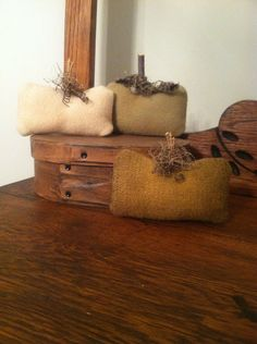 Wool Pumpkins / Primitive Pumpkins / Bowl by WOOLYPRIMITIVES,