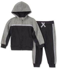 3520e241f0e0 Calvin Klein Size 0-3M 2-Piece Hooded Sweatshirt And Pants Set In ...