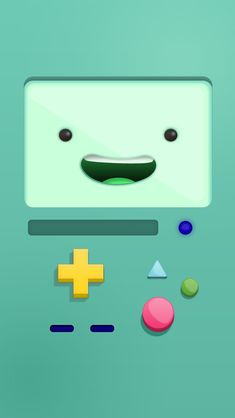Bmo, wallpaper, and adventure time image Cartoon Wallpaper, Sf Wallpaper, Iphone 6 Wallpaper, Mobile Wallpaper, Green Wallpaper, Disney Wallpaper, Wallpaper Ideas, Wallpaper Backgrounds, Art Adventure Time