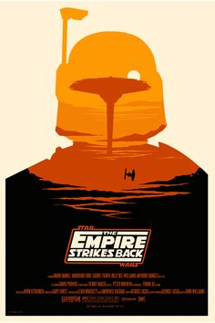 pictures: Olly Moss's alternative film posters Olly Moss, The Empire Strikes Back. Star Wars Screenprint / Printmaking with Boba Fett.Olly Moss, The Empire Strikes Back. Star Wars Screenprint / Printmaking with Boba Fett.