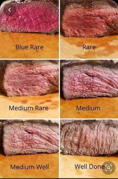 Medium Rare Steak Grill, Perfect Medium Rare Steak, Perfect Steak, How To Grill Steak, How To Cook Well Done Steak, Degrees Of Steak Doneness, Steak Doneness Chart, Steak Temperature, Kitchens