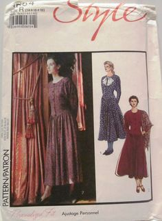 Style 1664 Womens Dress Sewing Pattern Pointed by Denisecraft, $5.99