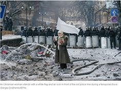 Ukraine clashes in Kiev in january 2014