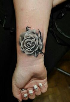 In this post we are going to present 50 Beautiful Rose Tattoo Designs for Girls. These rose tattoo designs are really beautiful and awesome. Black And Grey Rose Tattoo, White Rose Tattoos, Rose Tattoos On Wrist, Flower Tattoos, Tattoo Black, Black Rose Tattoo Coverup, Tattoo Roses, Rose Tattoos For Women, Black Tattoo Cover Up