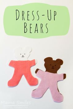 My kids adore these felt dress-up bears! Make them easily using the printable in this post. More bear-themed learning activities for kids in the post. Spanish Lessons For Kids, Learning Spanish For Kids, Kids Learning Activities, Learning Through Play, Infant Activities, Fun Learning, Teaching Kids, Learn Spanish, Sensory Activities
