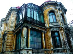 """The Macca House from Bucharest, Romania Built between designed by the Romanian architect Ion D. Berindey in Eclectic style with Art-Nouveau and Baroque influences, it hosts today the Institute of Archaeology """"Vasile Pārvan"""". Little Paris, Bucharest Romania, House Built, City Break, Abandoned Buildings, Eclectic Style, Archaeology, Facade, Building A House"""