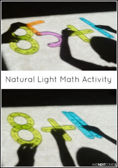 Natural light collaborative math activity for kids from And Next Comes L