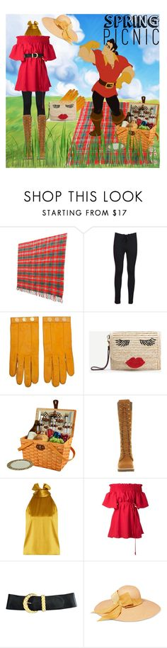 """A picnic with a disney villain"" by ladyhoney ❤ liked on Polyvore featuring Disney, Yeezy by Kanye West, Hermès, WithChic, Picnic at Ascot, Timberland, Galvan, storets, Anne Klein and Sensi Studio"