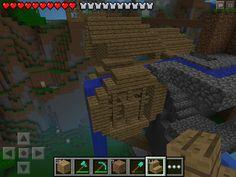 (W2) Small cliff mill Minecraft PE