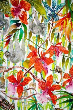 Jungle Imaginings close up I - Kate Morgan - Artist