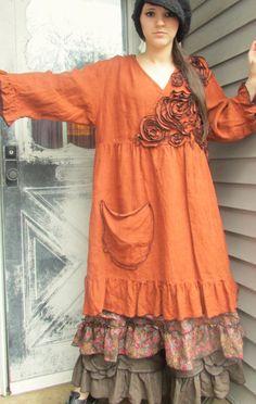 Robe Babydoll de rose poche par sarahclemensclothing sur Etsy