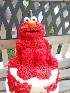 Pretty Aweome Elmo cake made by my SIL
