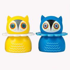 little wooden owl figures: Misko Nathan Jurevicius' Lithuanian Owls Art Toys