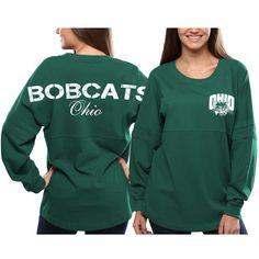 Ohio Bobcats Women's Pom Pom Jersey Oversized Long Sleeve T-Shirt - Green - $29.99