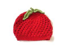 Newborn Baby Apple Hat Fruit Photography Prop by PreciousBowtique, $12.00