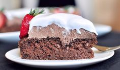 Vegan chocolate mousse cake w/coconut cream whip