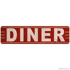 Vintage Style Diner Retro Wall Decal by RetroPlanetUSA on Etsy, $9.99