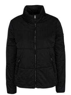 Jachetă matlasată neagră pentru iarnă - Jacqueline de Yong Lion