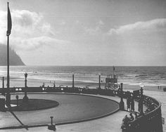 Turn-around at Seaside, Oregon, ca. 1937 :: Oregon Archives Collection