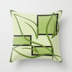 Green Leaves Throw Pillow cover by Ramon Martinez Jr - $20.00