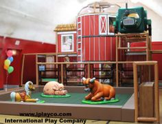 Here is an installation we just did at the #YMCA Cass. There is a #softplay barn themed playground, with #TuffStuff soft sculpted foam barn animals. At #Iplayco we design, manufacture and install worldwide. www.iplayco.com