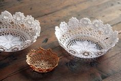 doily bowls for jewelry display