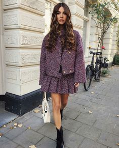 Preppy Mode, Preppy Style, Instagram Mode, Instagram Fashion, Instagram Outfits, Looks Chic, Looks Style, Mode Purple, Estilo Preppy