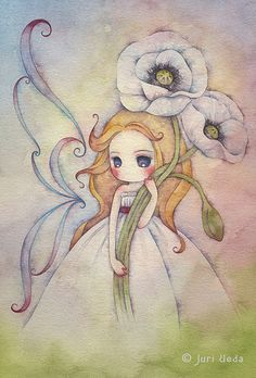 12 beaux tableaux de juri ueda - Page 3 Art Pastel, Pintura Country, Art And Illustration, Cute Drawings, Cute Art, Art Girl, Painting & Drawing, Fantasy Art, Watercolor Paintings
