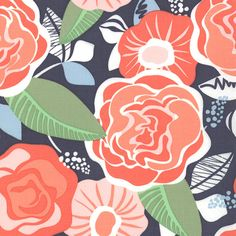 Honey Honey   Tea Rose  Dark Blue  by Kate Spain