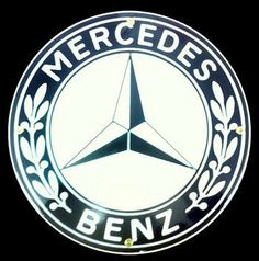 Mercedes Benz Porcelain Sign by Garage Art. $29.95. This heavy metal Mercedes porcelain sign looks great up on the wall in the garage. Perfect gift idea for the Mercedes collector!