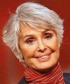 short hairstyle for gray hair I'll keep this for down the road if my hair gets gray totally ...