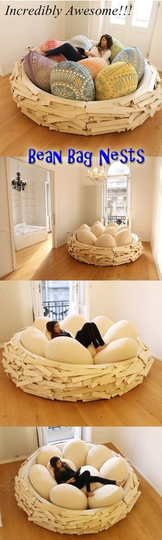 Incredibly Awesome Bean Bag Nests.  #contemporary #furniture #design #homedecor