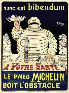Michelin Man poster (c.1898) by O'Gallop [aka Marius Rossillon, 1867-1946]