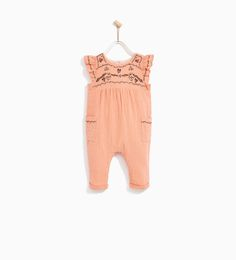 EMBROIDERED PINK JUMPSUIT-DRESSES AND JUMPSUITS-BABY GIRL | 3 months - 4 years-KIDS | ZARA United States