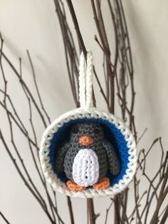 Christmas Bauble Ornaments, Snowman & Penguin crochet pattern by Laura Loves Crochet