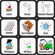 Il pannello di controllo presente in Homepage su YouMath.it.