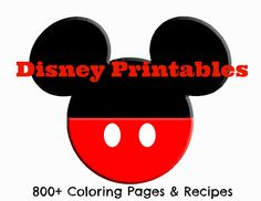 Fabulous List of #Disney Printables - 800+ Coloring Pages & Recipes
