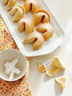 Impress your guests with custom fortune cookies! More budget summer party ideas: http://www.bhg.com/party/birthday/themes/host-a-summer-party-on-a-budget/?socsrc=bhgpin073113fortunecookies=7
