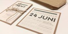 Inbjudningskort till ditt bröllop i romantisk vintagestil Save The Date, Big Day, Wedding Planning, Wedding Invitations, 28 April, Wedding Inspiration, Place Card Holders, Graphic Design, How To Plan